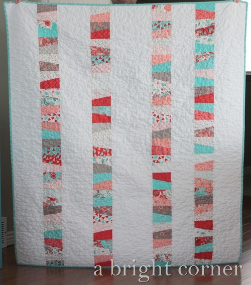 Charm quilt idea from A Bright Corner