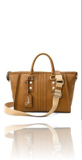 MILLY NY ANDIE LEATHER SATCHEL