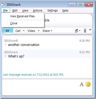 Lync Dis Arch - Client Save As Disabled
