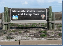 7270 Texas - PR-22 (South Padre Island Dr) - Padre Island National Seashore - Malaquite Visitor Center sign