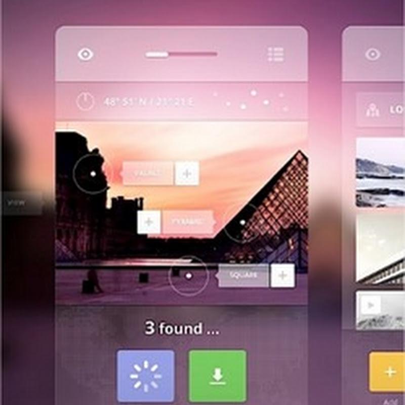 Hermoso concepto de diseño de interfaz estilo iOS 7