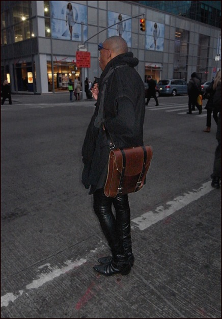 m leather pants grey scarfs glacier glasses leather bag ol