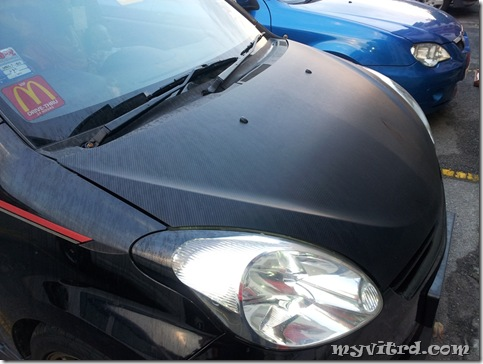 install sticker carbon fiber 10