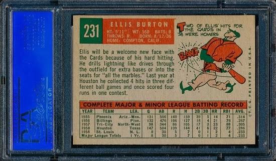 1959 Topps 231 Ellis Burton