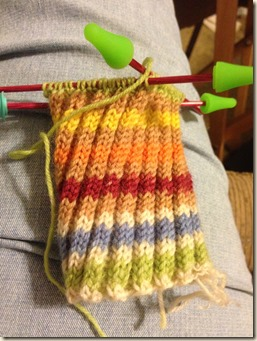 sock 1 coming along