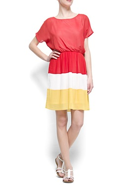 mngpleated colourblock