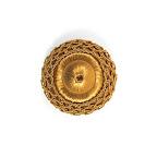Rozeta dekoracyjna do elementów pikowanych - mebli, tekstyliów.