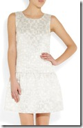 DKNY Metallic Cotton Blend Dress