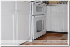 kitchen cabinets without knobs {A Sprinkle of This . . . . A Dash of That}