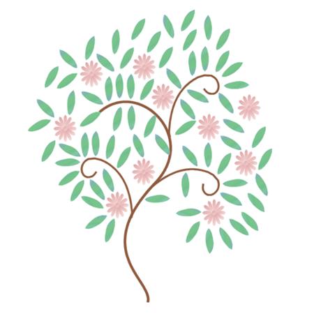 cherry blossom-white
