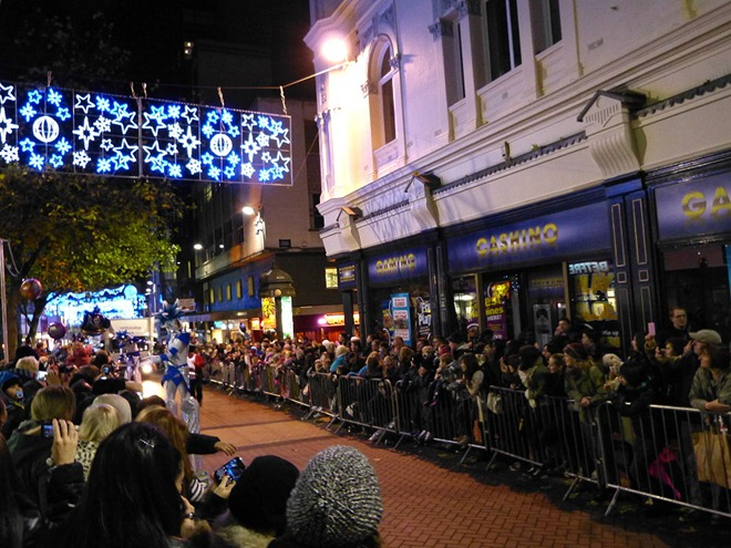 Birmingham City Centre Christmas parade 2012