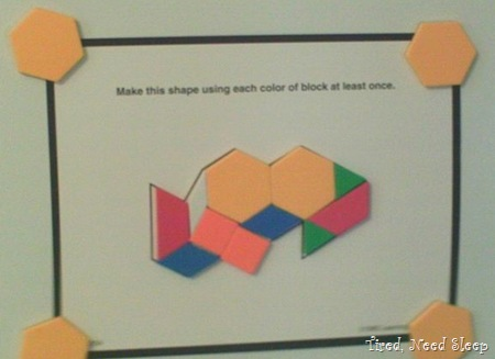 puzzle finished with pattern blocks