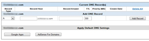 DNS record management name