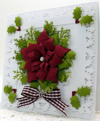 Framed Poinsettia Card2