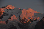 Sunset over Mont Blanc