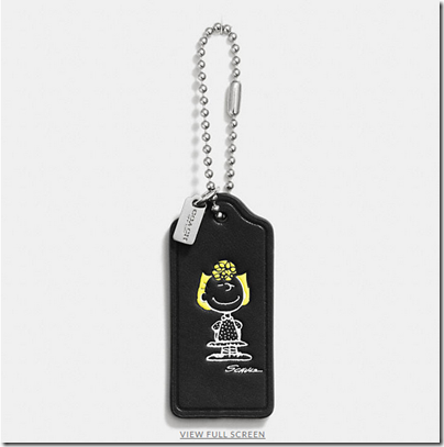 COACH X Peanuts leather hangtag - USD 20 - black 04