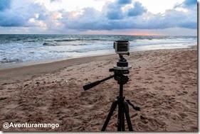 GoPro fazendo time-lapse na praia de Pirangi-RN