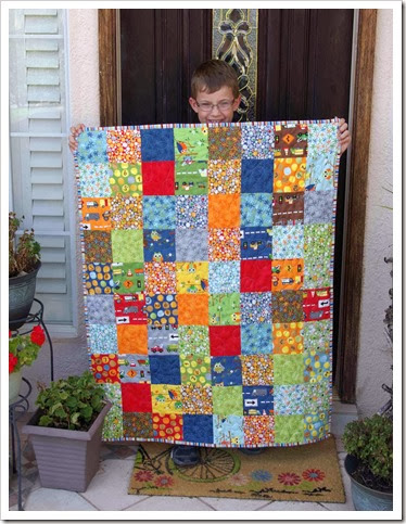 Ten Little Things Finished Baby Quilt