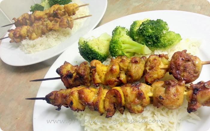 Hello Fresh Vietnamese BBQ Chicken Skewers ginger rice