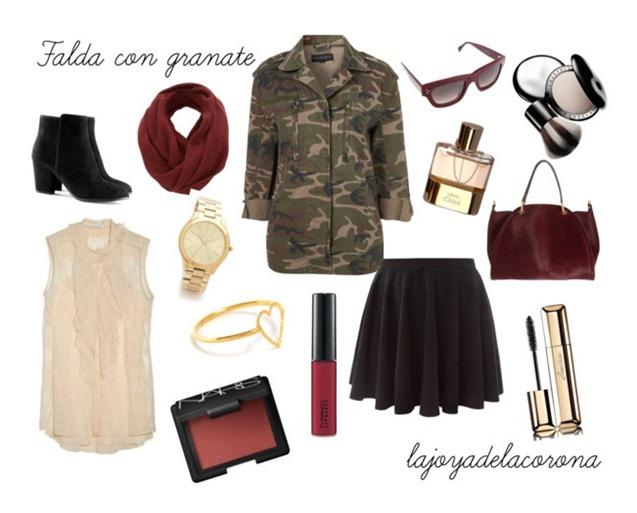 falda y granate