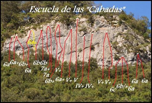 Croquis Las Cabadas (Arenas de Cabrales, Asturias)
