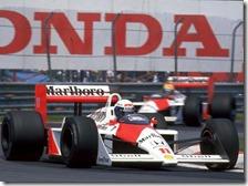 Prost e Senna con la McLaren-Honda nel 1988