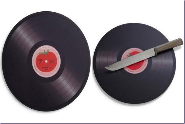 Tábua-Cozinha-Cortar-Alimentos-Disco-Vinil-LP