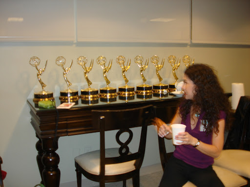 Me pretending I can't recall which Emmy I won for what!