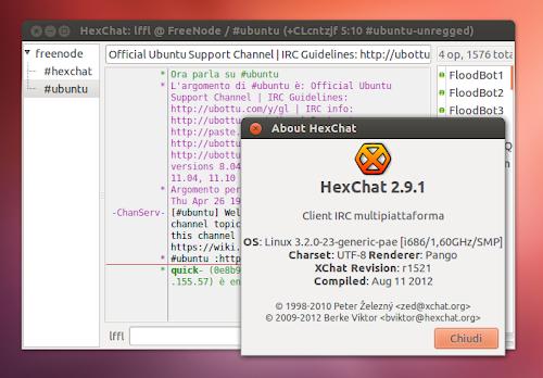 HexChat su Ubuntu