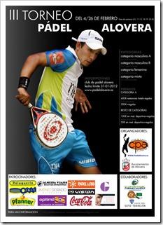 III Torneo de Pádel ALOVERA 2012 del 4 al 26 de febrero con importantes premios.