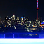 mesmerizing night view of the Toronto skyline from the Thompson Hotel in Toronto, Ontario, Canada