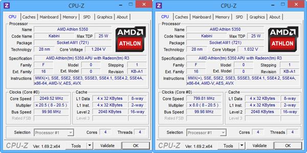 CPU-Z AMD ATHLON 5350
