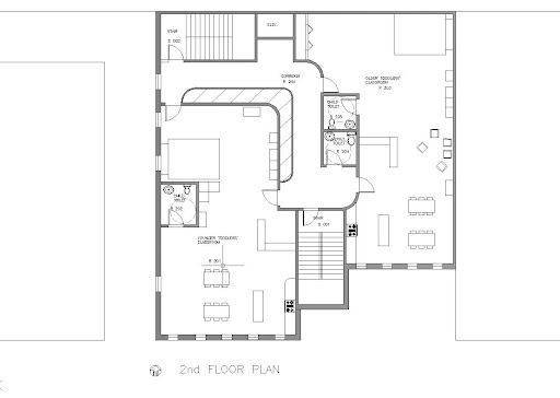 Design Studio 2 (2008)- Daycare Center, 2nd floor plan - AutoCAD