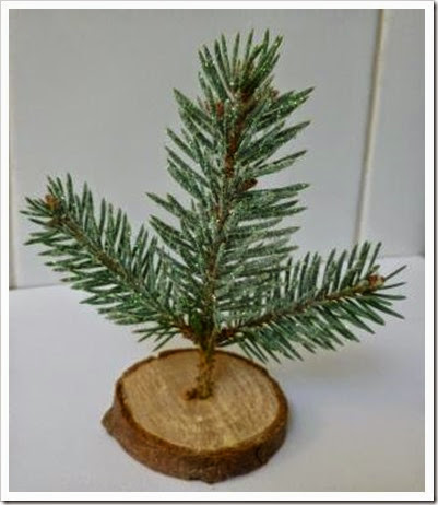 mini christmas tree decoration. place setting