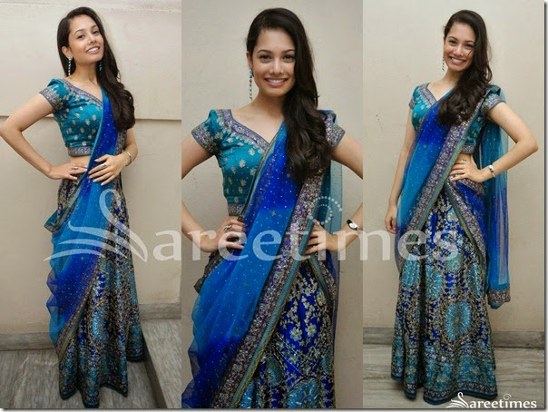 Blue_Embroidery_Half_Saree