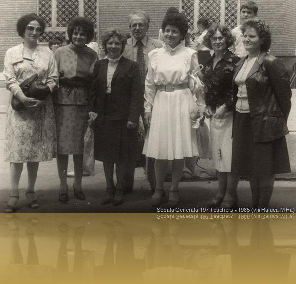 Sc Gn 197, '85: Georgescu (ist), Ritivoiu (mu), Stanciu (fr), Grigorescu (mate), Voica (chm), Deaconu (geo), Popescu (dsn)