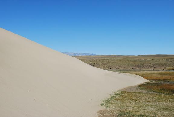 Tianshan - Paysage pied dune, prairie, montagne