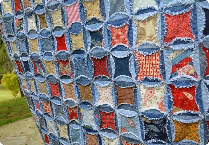repurposed jeans quilt