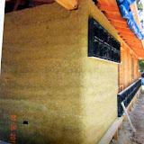 Hempcrete block walls