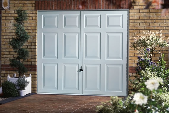 Garador PVC Chatsworth garage door in white