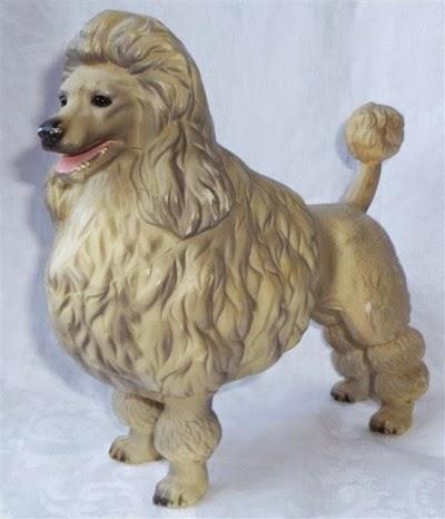 plastic poodle figurine