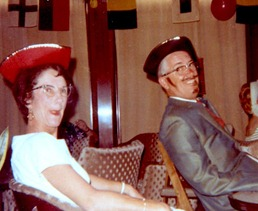 Blanche-&-Ezzie,-cruise-costume-party,-1966