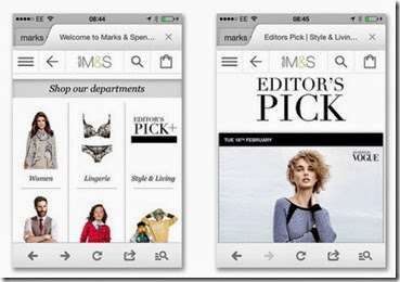 Marks and Spencer Responsive Design