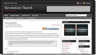 revolution two church blogger template