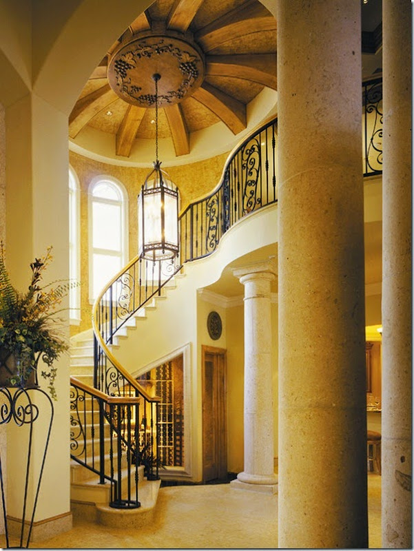 Awesome Sater Design Collection's Hall with Traditional Staircase