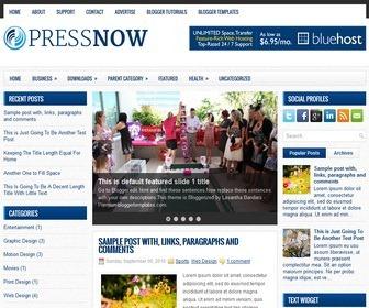 PressNow-Blogger-Template