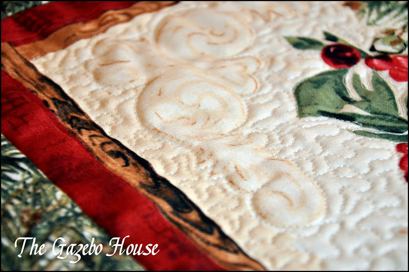 Chicadee quilted wallhanging 009