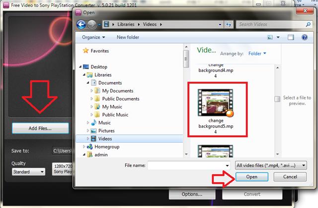 การแปลงไฟล์วีดีโอเป็นไฟล์ที่ใช้กับมือถือได้