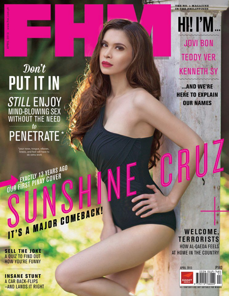 Sunshine Cruz on FHM April 2013 cover