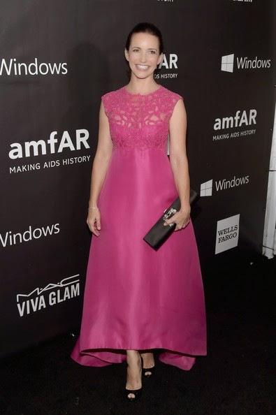 Kristin Davis attends the 2014 amfAR LA Inspiration Gala